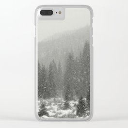 Mountain Snow Clear iPhone Case