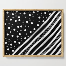 Black & White Graphic 2 Serving Tray