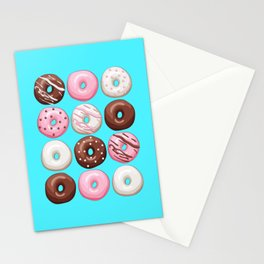 Donuts Party Stationery Cards