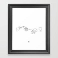 The Creation Of Adam Framed Art Print