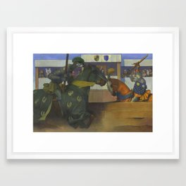 A Medieval Knights Jousting Tournament Framed Art Print