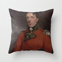 John Constable - Captain Richard Gubbin Throw Pillow