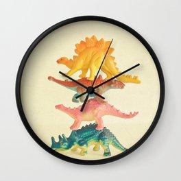 Dinosaur Antics Wall Clock
