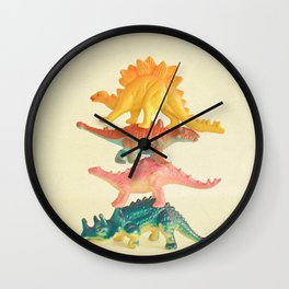 Dinosaur Antics Wall Clock