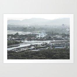 Fisherman Village Art Print