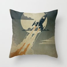 Night Launch Throw Pillow