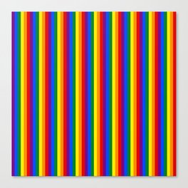 Mini Verticle Gay Pride Rainbow Beach Stripes Canvas Print