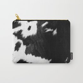 Rustic Cowhide Carry-All Pouch