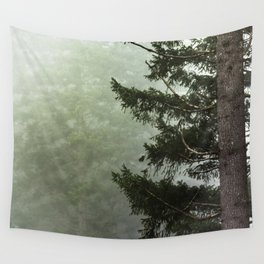 Foggy Forest Wanderlust Adventure III - 116/365 Nature Photography Wall Tapestry