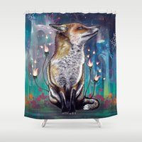 justin timberlake Shower Curtains featuring There is a Light by Mat Miller