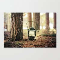 camping Canvas Prints featuring camping by katelyndee
