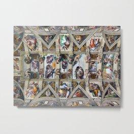 "Michelangelo Buonarroti,"" The ceiling of the Sistine Chapel "" Metal Print"