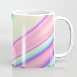 Holographic Foil Neon Pastel Colorful Pattern Abstract Marble Multi Colored Gradient Coffee Mug
