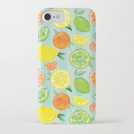 Zesty Citrus Pattern iPhone Case