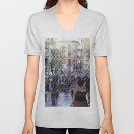 Portrayal tally. Delimit. Layer. Angles get lulls. Unisex V-Neck