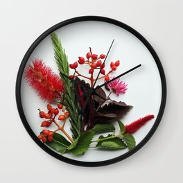 Australian Flowers Wall Clock