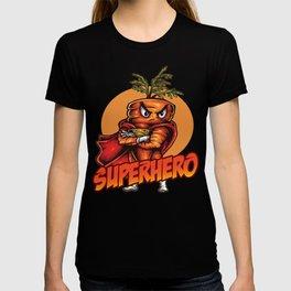 Angry Carrot SuperHero Foodietoon Super Hero T-shirt