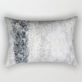 Shades of Grunged Gray Rectangular Pillow
