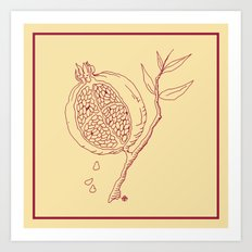 Golden Pomegranate Art Print