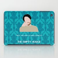 wes anderson iPad Cases featuring The Empty Hearse - Philip Anderson by MacGuffin Designs