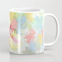 water colour Mugs featuring Water colour parrot tulip by thea walstra
