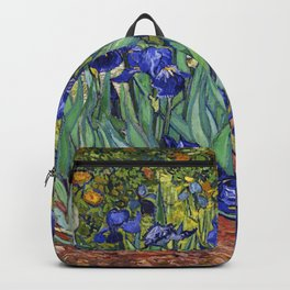Irises by Vincent van Gogh Backpack