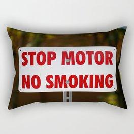 Stop Motor No Smoking Rectangular Pillow