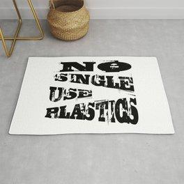 No Single Use Plastic EcoFriendly Recycle Quote Rug