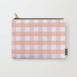 Blush Pink Plaid Carry-All Pouch
