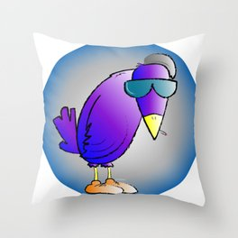smokin' bird Throw Pillow