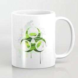 Symbol of Biological Danger Drawn with Paint Coffee Mug