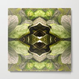 357 - Abstract Garden Design Metal Print
