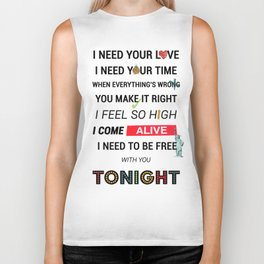 I Need Your Love ; Ellie Goulding feat. Calvin Harris Biker Tank