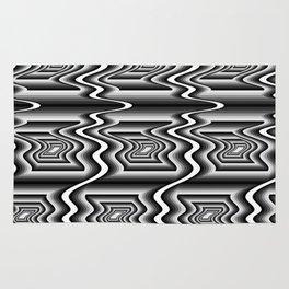 Grey Optical Pattern Rug