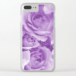 Violet Rose Bouquet For You - Valentine's Day #decor #society6 #homedecor Clear iPhone Case