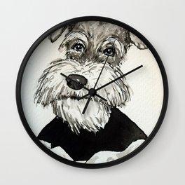 Gustav reading Wall Clock