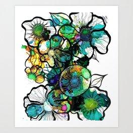 Turquoise Efflourescence Art Print