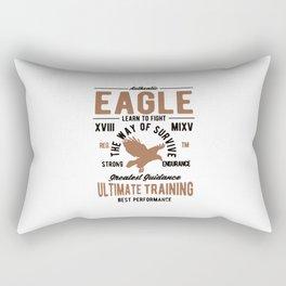 authentic eagle Rectangular Pillow