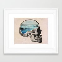 surreal Framed Art Prints featuring Brain Waves by Chase Kunz