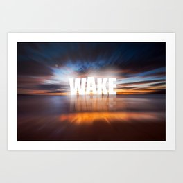 WAKE+MAKE Art Print