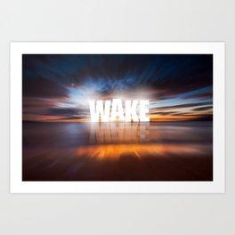 WAKE+MAKE Art Print