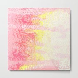 Pink & Yellow Cedar Metal Print