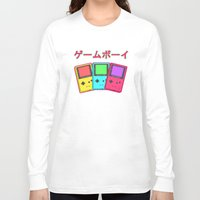 gameboy Long Sleeve T-shirts featuring Gameboy by Chrome