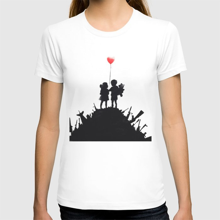 Banksy, Kids with heart balloon T-shirt