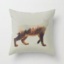 Norwegian Woods: The Lynx Throw Pillow