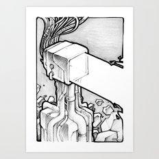 TV Blast sketch Art Print