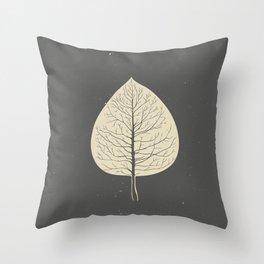 Tree-leaf Throw Pillow