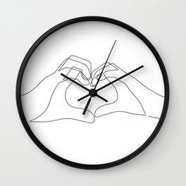 Hand Heart Wall Clock