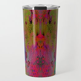 Sugar Skull and Girly Corks (Ultraviolet, Psychedelic) Travel Mug