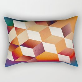 Oil Slick Cubes Rectangular Pillow